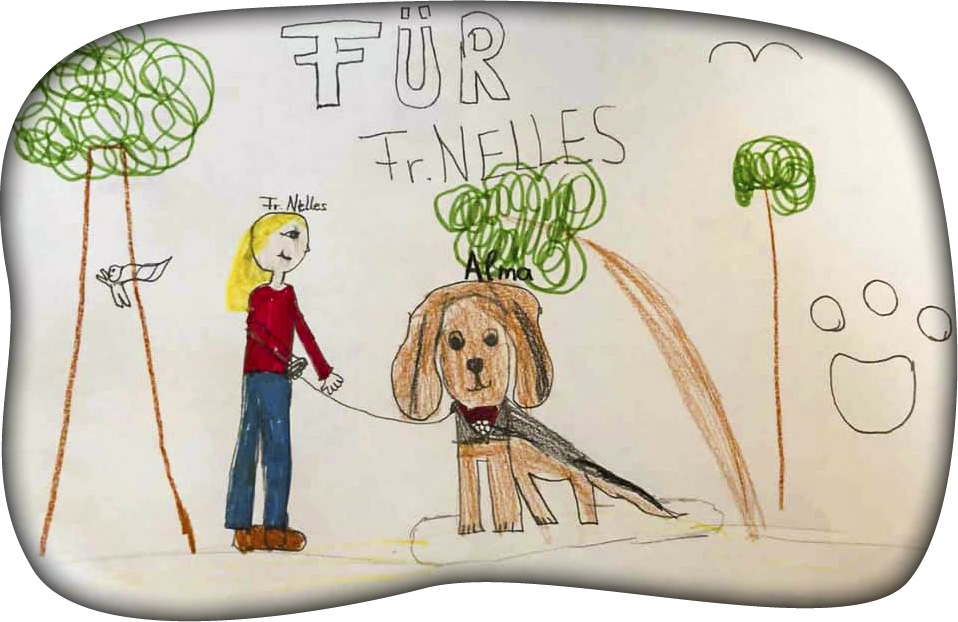 Therapiehund - Kindergarten Zeichnung